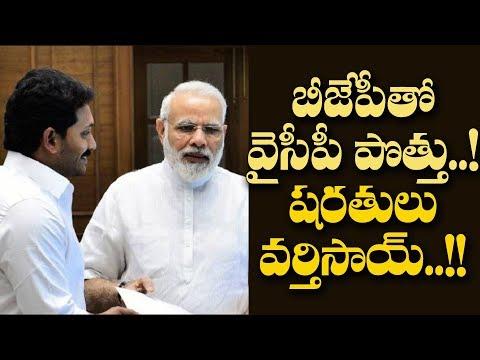 బీజేపీతో పొత్తుకు వైసీపీ సిద్ధం:షరతులు ఇవే..!  YSR Congress to Conditional Alliance with BJP..!