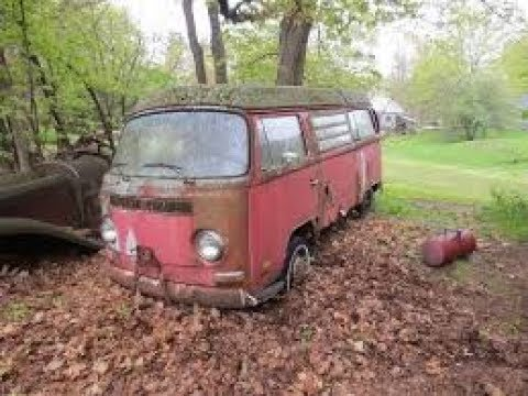 31 years in a field vw bus will it run ? part 2