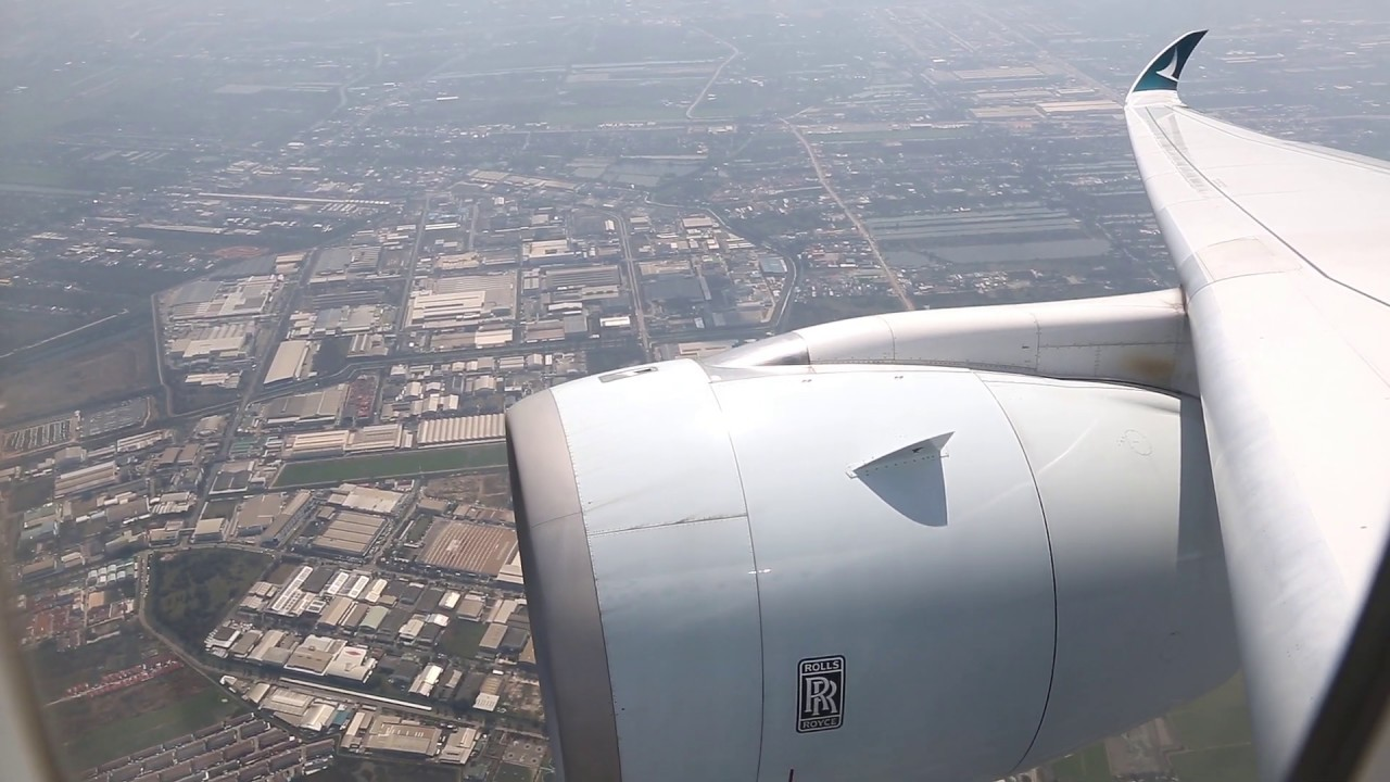 Download Cathay Pacific Airbus A350 Takeoff - Bangkok (CX 619)