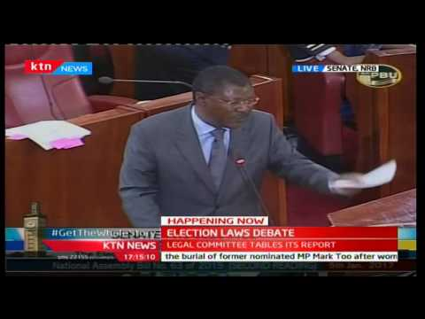 Senator Moses Wetangula says deputy Speaker and Muranga Senator James Gitura is misleading the house