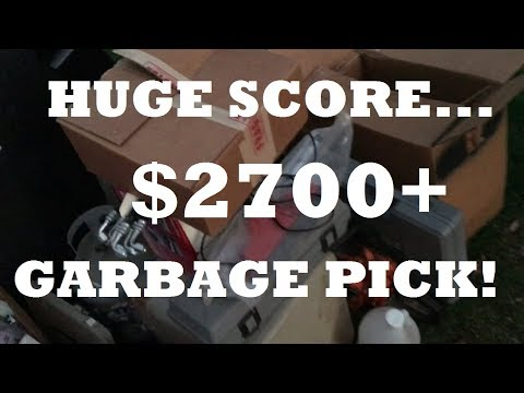 $2700 In 2 1/2 Hours Garbage Picking Huge WIn!!