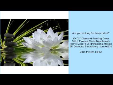 3D DIY Diamond Painting Cross Stitch Flowers Resin Needlework Home Decor Full Rhinestone Mo