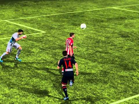 FIFA12 Oscar De Marcos overhead bicycle kick goal