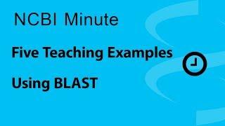 NCBI Minute: Five Teaching Examples Using BLAST