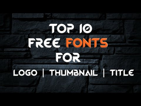 Top 10 Free Cool Fonts For Thumbnails / Logos On Android   HashTagWorld