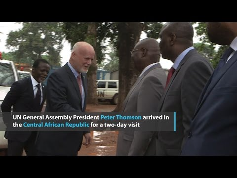 UN General Assembly President visits wounded peacekeepers in CAR
