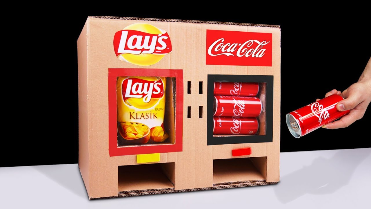 Diy How To Make Lay S Chips And Coca Cola Vending Machine