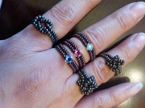 Handmade Jewelry: Beaded Stackable Rings