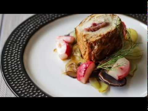 Best stuffed savory rhubarb chicken | Gourmet weekly meal prep ep 27