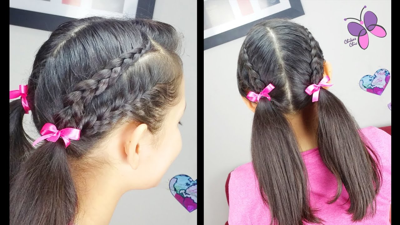 braided pigtails easy hairstyles