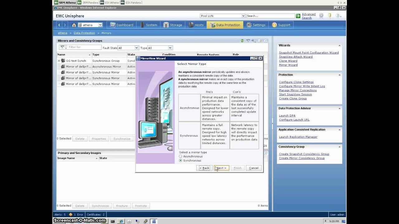 VMware vCenter SRM 5with EMC VNX Arrays & MirrorView - Part 1