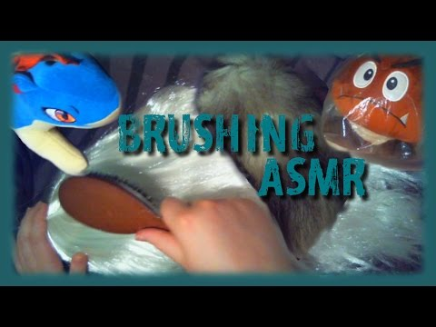 // ASMR // Brushing Sounds - hair brush on plush toys and more ~ (No Talking)