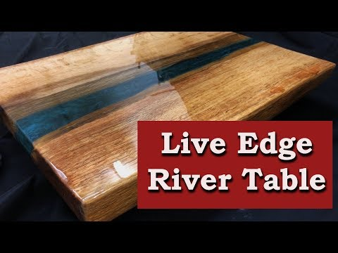 Live Edge River Table - Oak Slab