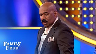 SHOCKING answer! Steve completely STUNNED!!!   Family Feud
