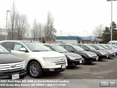 2007 Ford Edge SEL AWD, $22771 at Sound National Lending in Renton, WA