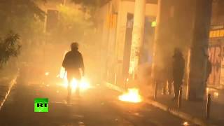 Molotov cocktail clashes: Thousands march in Athens marking 1973 Greek student revolt