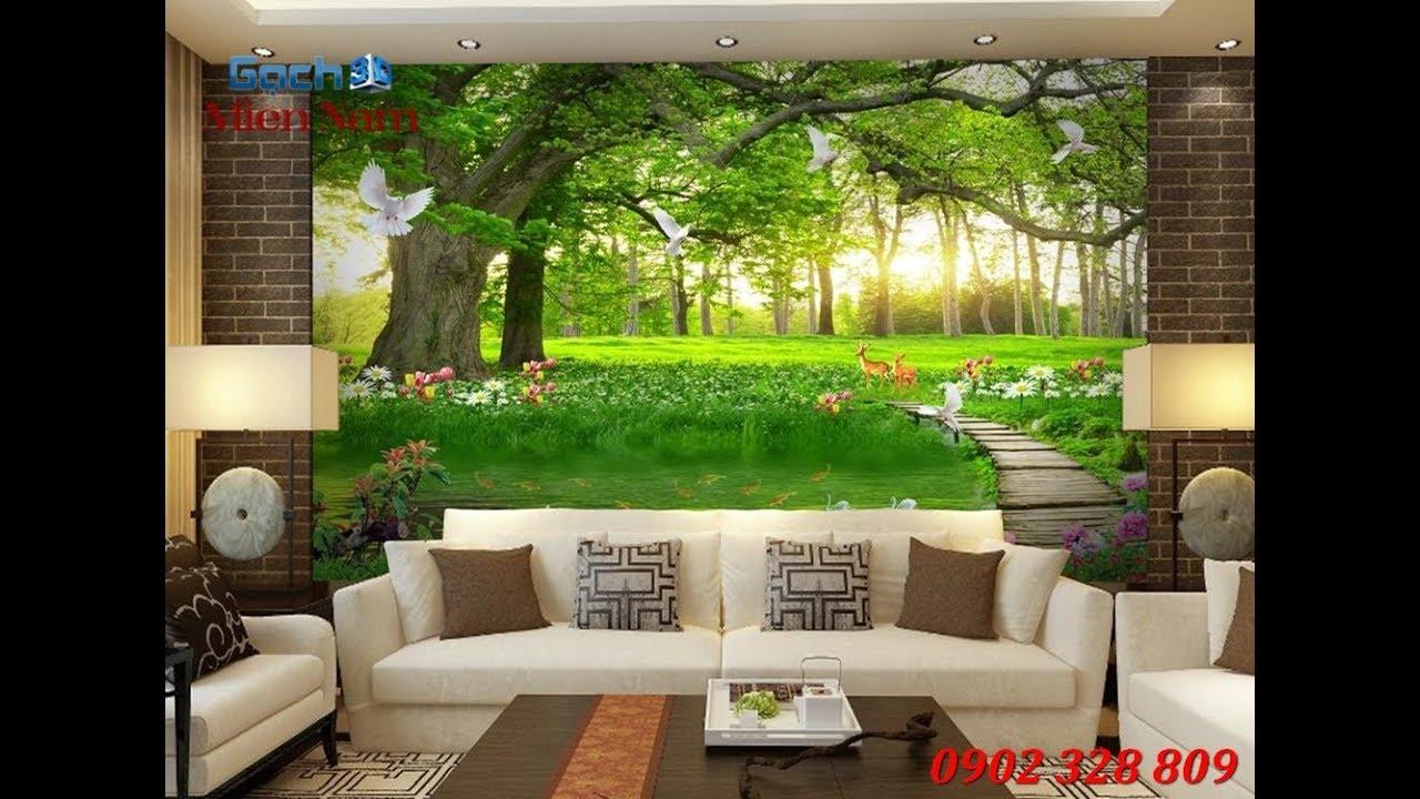 Tranh phong cảnh 3d cho tường phòng khách, phòng ngủ
