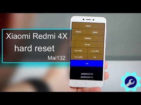 Xiaomi Redmi 4X Mai132 full hard reset - YouTube