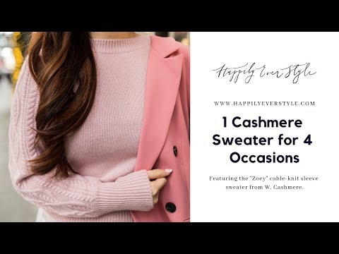 Styling 1 Cashmere Sweater for 4 Occasions