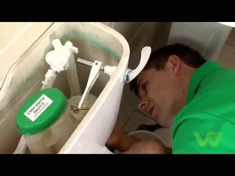 Cách thay van bóng nổi trong bồn xả Toilet