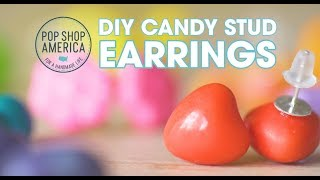 Make these DIY Candy Stud Earrings