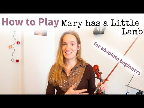 Mary had a Little Lamb (how to play) | Easy Absolute Beginners Song | First Violin Tutorial