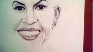 Michelle Obama Drawing by Denzel Seals