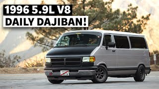 A True Dajiban Build in California. Dodge Van Build Influenced by Japanese Car Culture