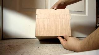 """My first attempt at a Japanese Puzzle Box. One side is a little """"sticky"""". The edges are not perfect."""