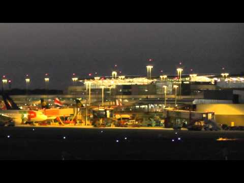 Hamburg Airport Terminal night parking