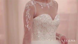 Пышное свадебное платье с воланами от VESILNA™ модель 3026
