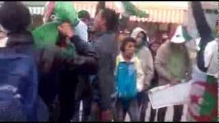 فرحة شباب قصر الشلالة قبل المبارات-ولاية تيارت محمد14