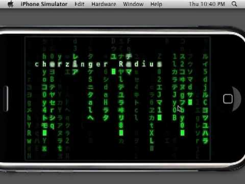 The Matrix Phone demo - iPhone 3GS/IPod Touch App