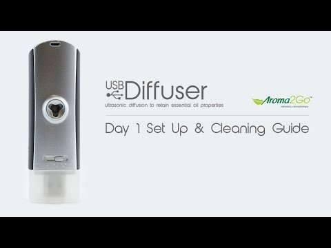 USB Ultrasonic Diffuser - Setup & Cleaning Guide