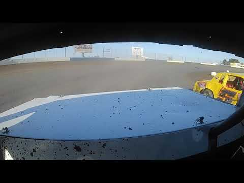 In-car video from the 4CF Pure Stock Driver: Dustin Schoonover Track: Longdale Speedway Location: Longdale, OK Spec: 3/8 Mile Dirt Oval Surface: Clay. - dirt track racing video image
