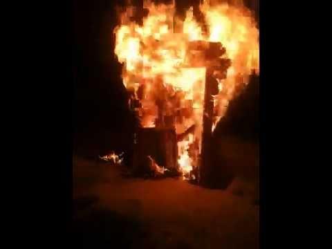 We have no dry wood.....let's burn a dresser