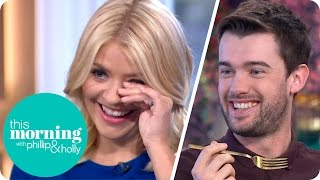 Repeat youtube video Jack Whitehall Shocks Everyone By Misbehaving With A Mug Of Carbonara | This Morning