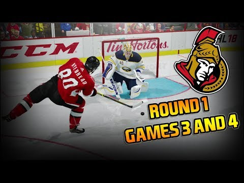 Round 1 Games 3 & 4 - NHL 18  - Ottawa Senators Be A Pro Ep. 29