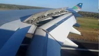 Air Namibia landing at Windhoek