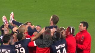آخر مباراة لديفيد بيكهام في مشواره الكروي - باريس اند جيرمن  David Beckham last game