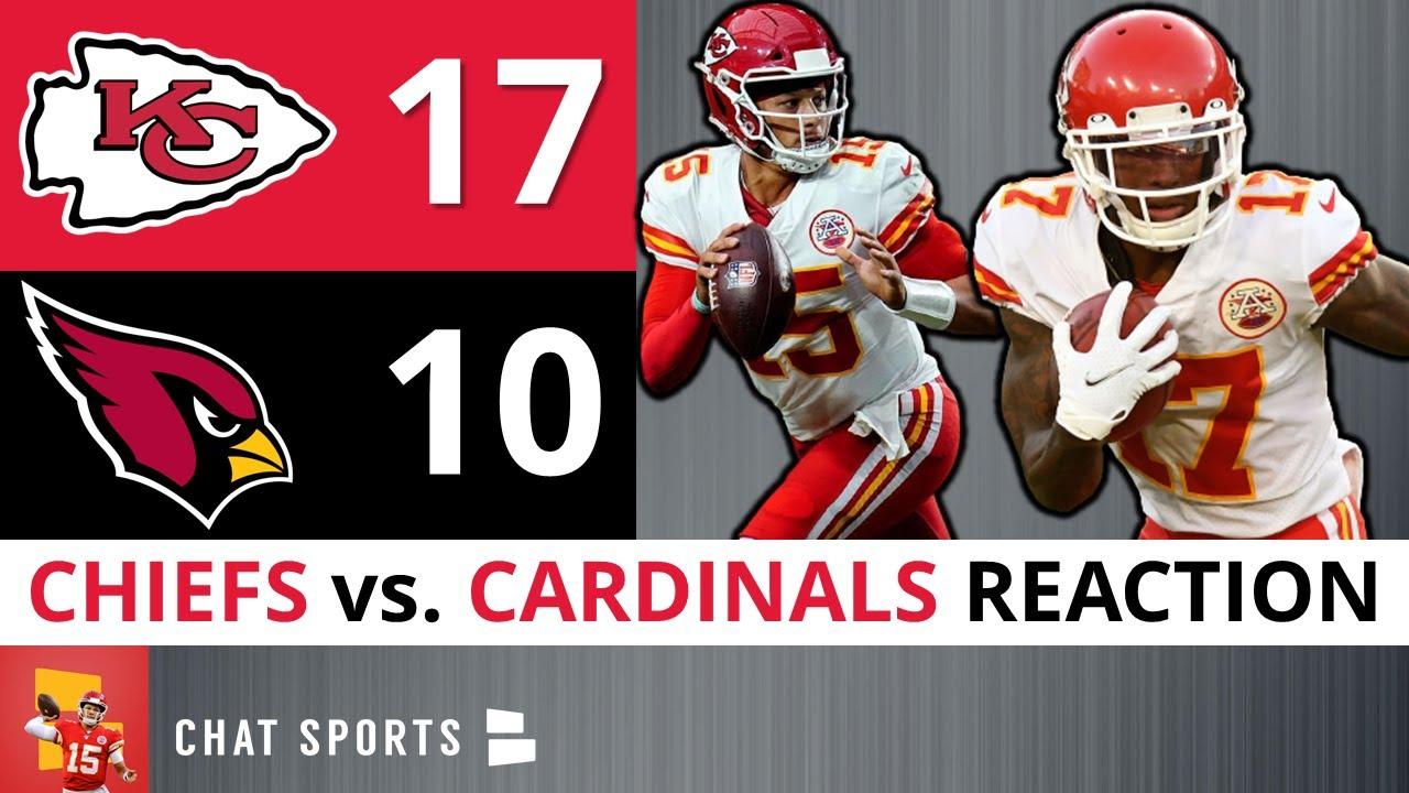 Henne, Buechele throw TD passes, Chiefs beat Cardinals 17-10