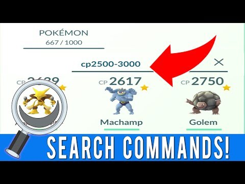 6 HIDDEN POKEMON GO SEARCH COMMANDS YOU DIDN'T KNOW ABOUT! Pokemon GO Search Bar Commands List!