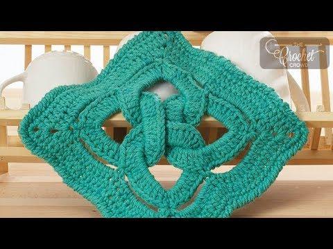 Crochet Celtic Knot Dishcloth Youtube