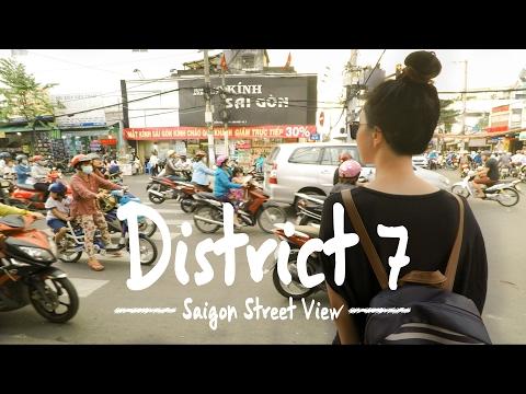 Saigon Walk: District 7. Local area in Ho Chi Minh City, Vietnam