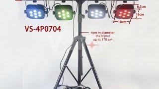 DJ نظام الإضاءة مع أربعة الاسمية أضواء الوقوف مع القضية 28*10W RGBW