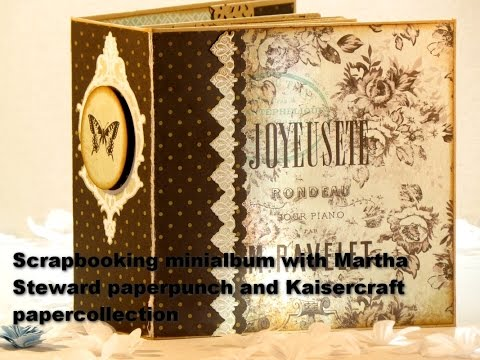 Minialbum with Papercollection from Kaisercraft