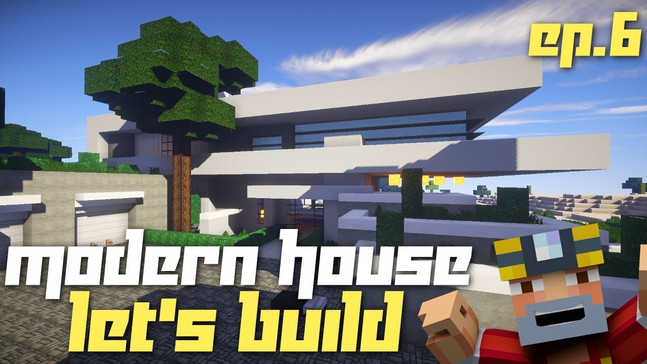 Minecraft xbox 360 let 39 s build a modern house part 6 for Modern house 8 part 6
