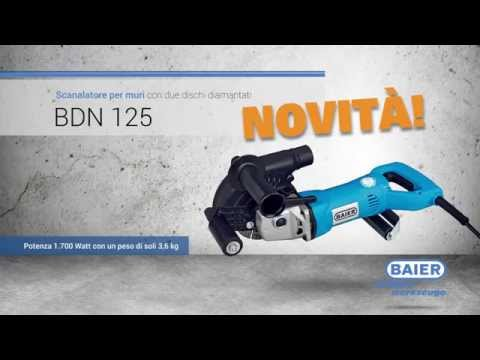 BDN125 - NOVITÀ - Scanalatore per muri con due dischi diamantatiиз YouTube · Длительность: 1 мин37 с