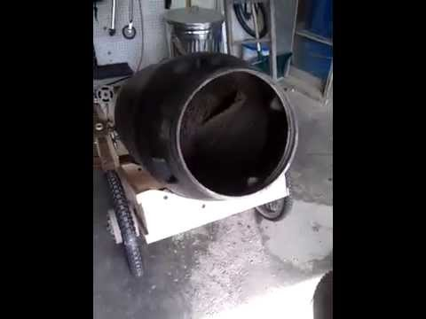 Make a Mobile Cement Mixer from a Pickle Barrel | Make: