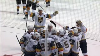 Final moments as the Vegas Golden Knights win their first NHL game